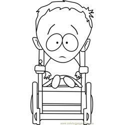 Timmy Burch from South Park Free Coloring Page for Kids