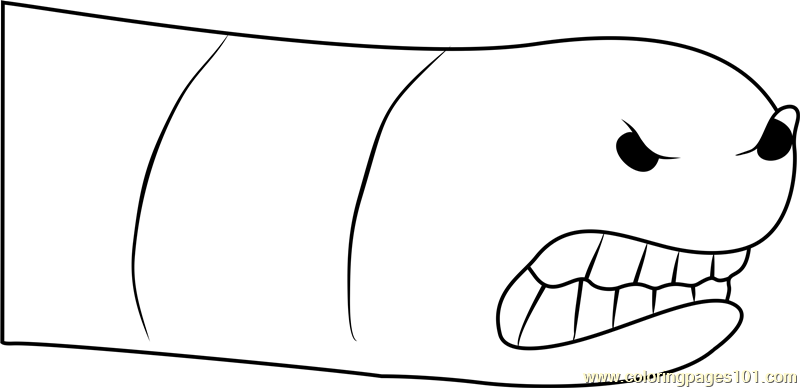Alaskan Bull Worm Coloring Page