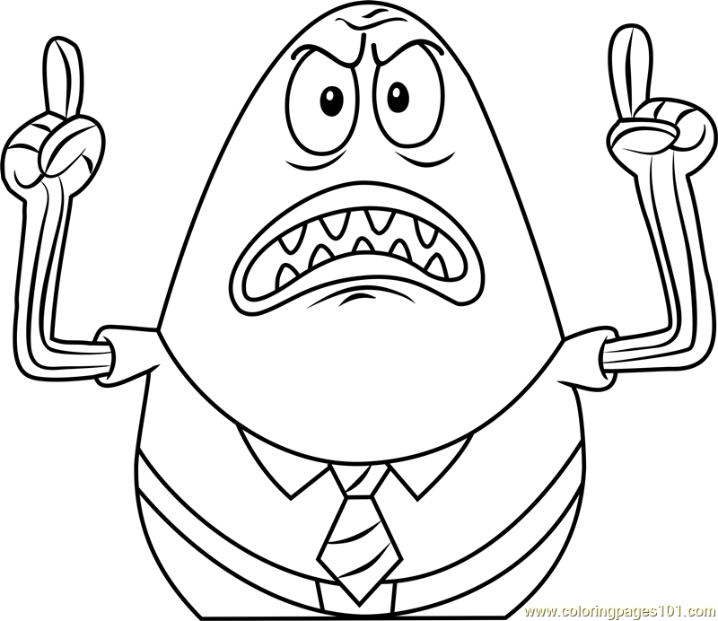 Angry Jack Coloring Page