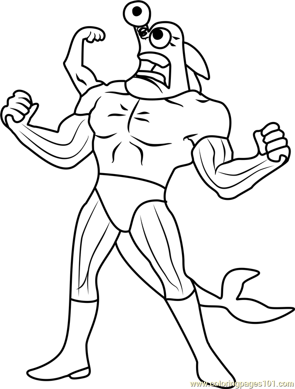 Mermaid Man Spongebob Coloring Pages Coloring Pages