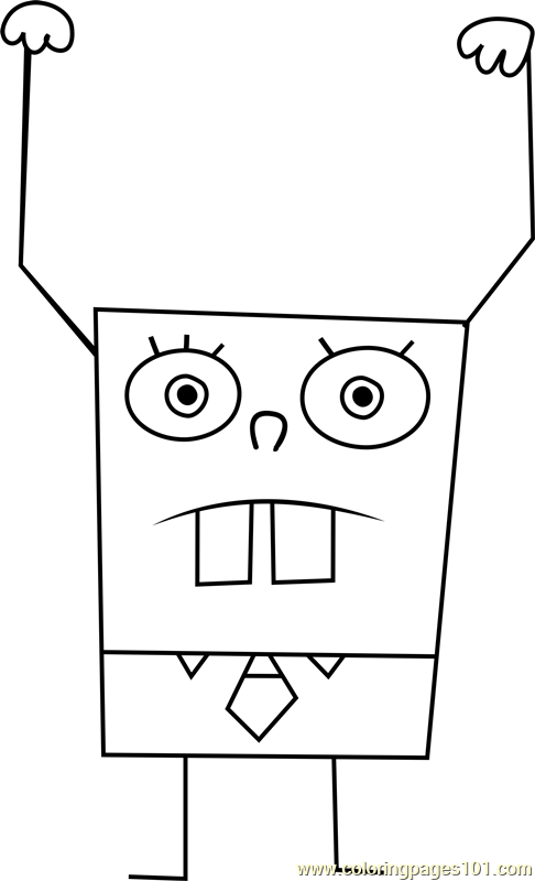 DoodleBob Coloring Page