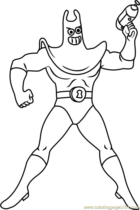 Man Ray Coloring Page Free Spongebob Squarepants