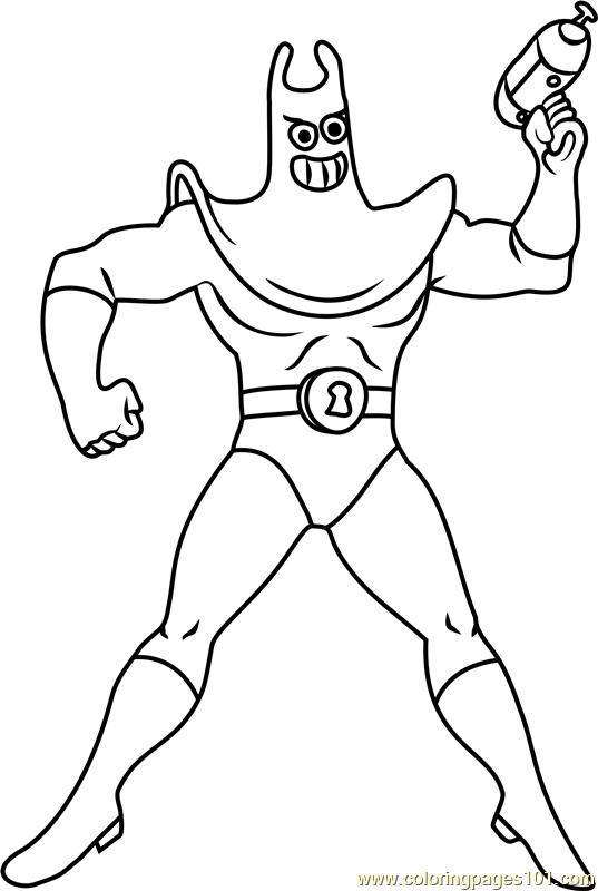 Man Ray Coloring Page Free Spongebob Squarepants