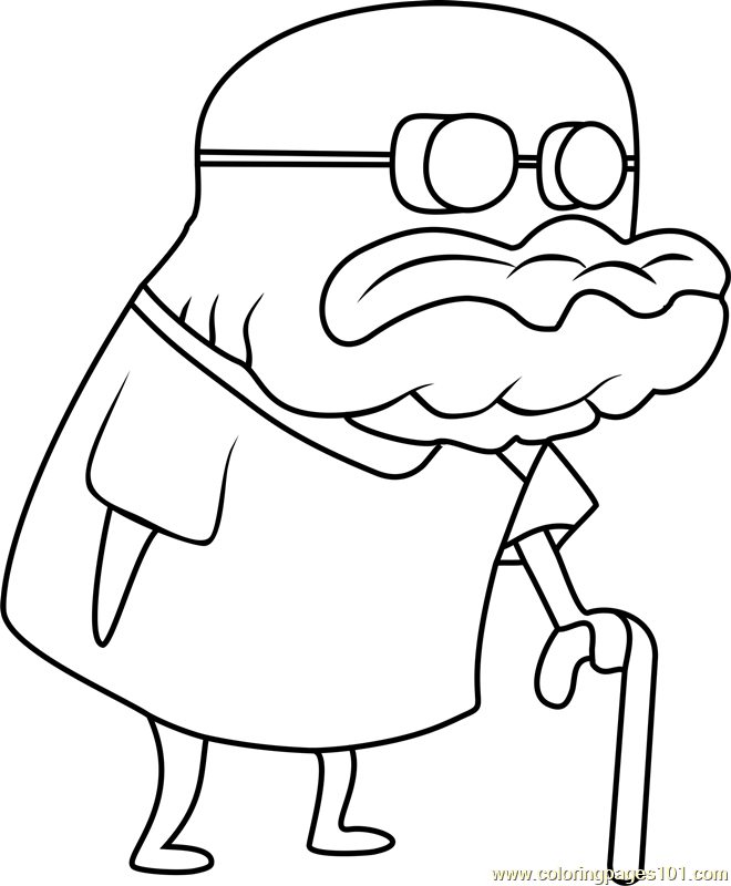 Old Man Jenkins Coloring Page