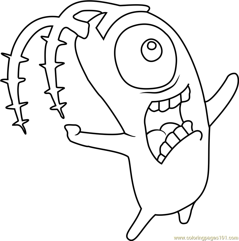 Plankton Coloring Page