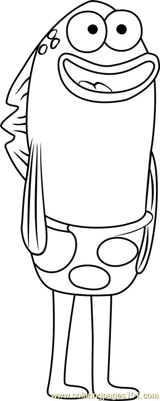 Sandals Fishbowl Coloring Page