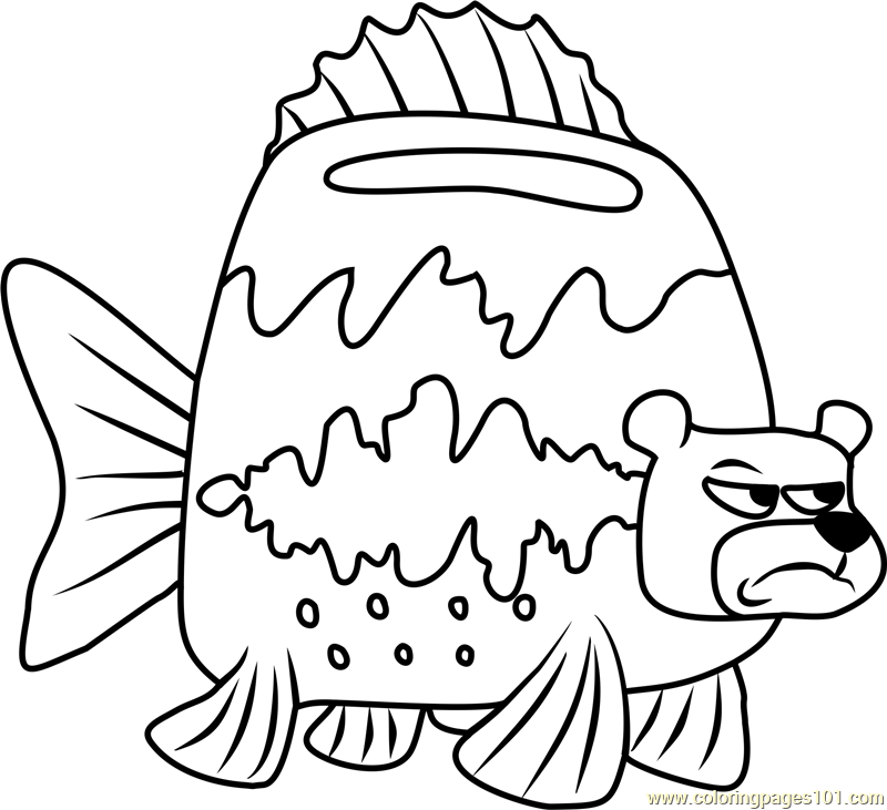 Sea Bear Coloring Page