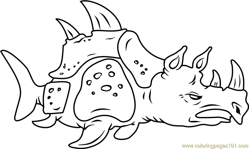 Sea Rhinoceros Coloring Page