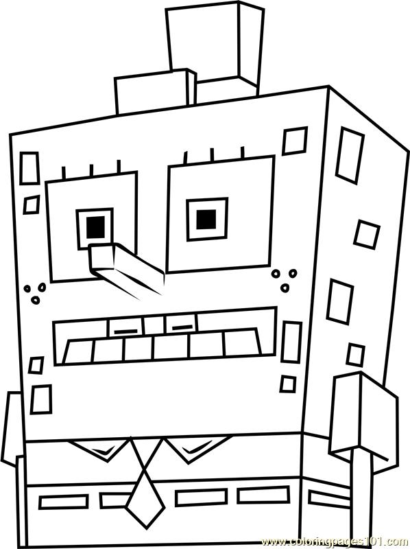 Spongetron Coloring Page Free Spongebob Squarepants