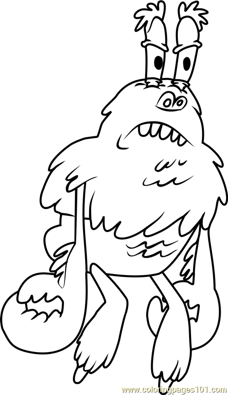 The Yeti Crab Coloring Page Free