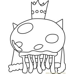 King Jellyfish Free Coloring Page for Kids
