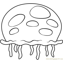 Queen Jellyfish Free Coloring Page for Kids