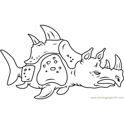 Sea Rhinoceros Free Coloring Page for Kids