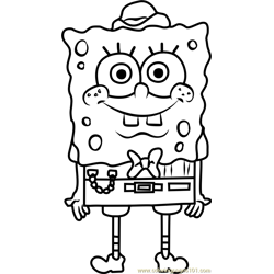 SpongeBuck SquarePants Free Coloring Page for Kids