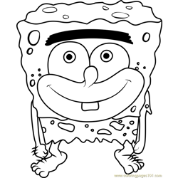 SpongeGar Free Coloring Page for Kids