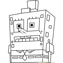 SpongeTron Free Coloring Page for Kids