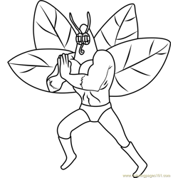 The Moth Free Coloring Page for Kids