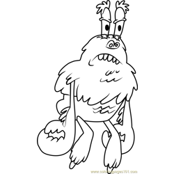 The Yeti Crab coloring page