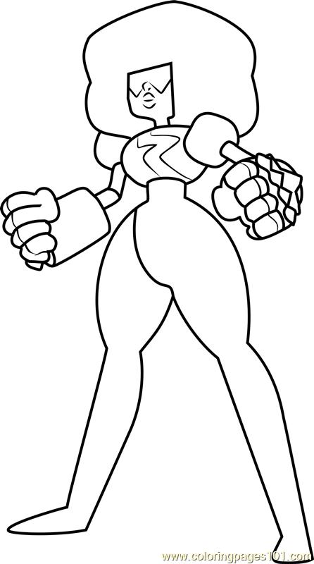 Garnet Steven Universe Coloring Page Free Steven