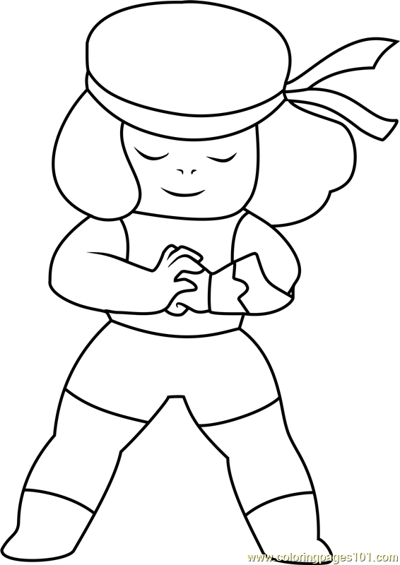Ruby Steven Universe Coloring Page