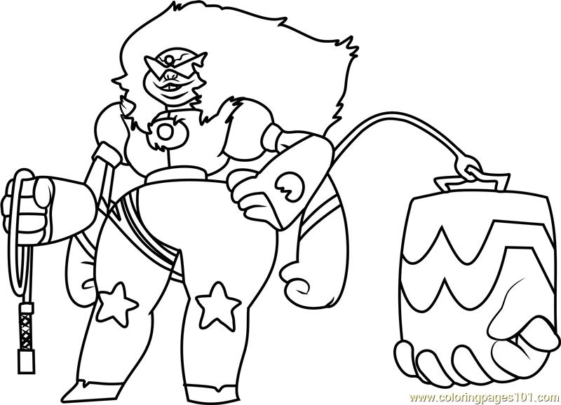 Steven Universe And Jasper Lapis Sketch Coloring Page