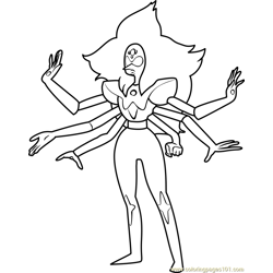 Alexandrite Steven Universe coloring page