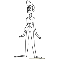 Pearl Steven Universe coloring page