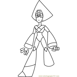 Peridot Steven Universe Free Coloring Page for Kids