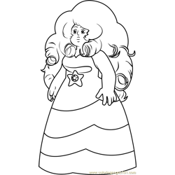 Rose Quartz Steven Universe Free Coloring Page for Kids