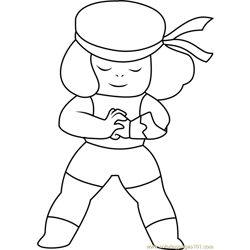 Ruby Steven Universe Free Coloring Page for Kids