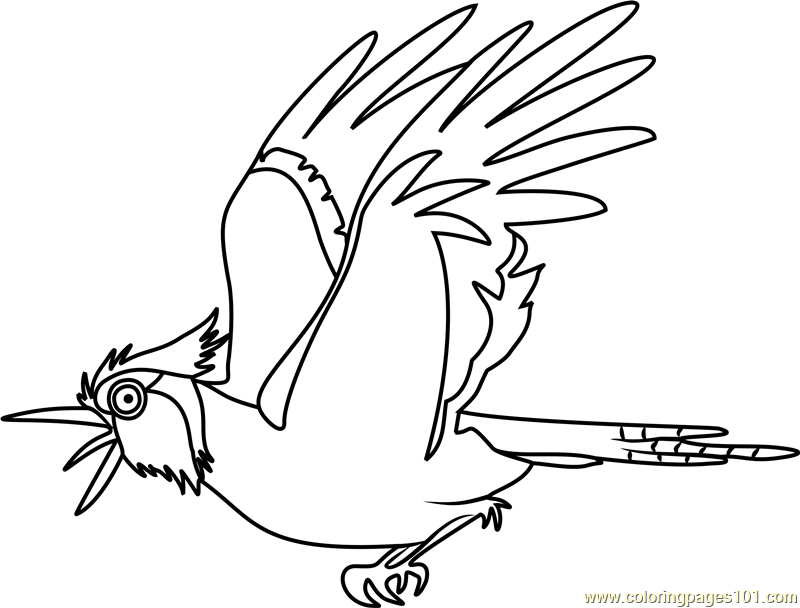 bluejay stoked coloring page