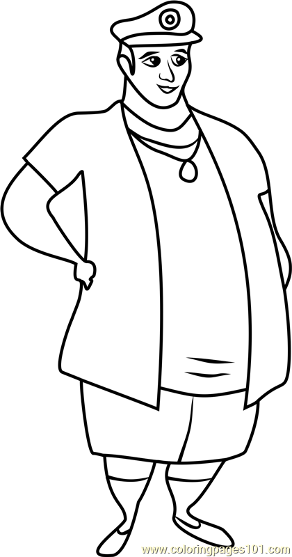 Captain Ron Stoked Coloring Page