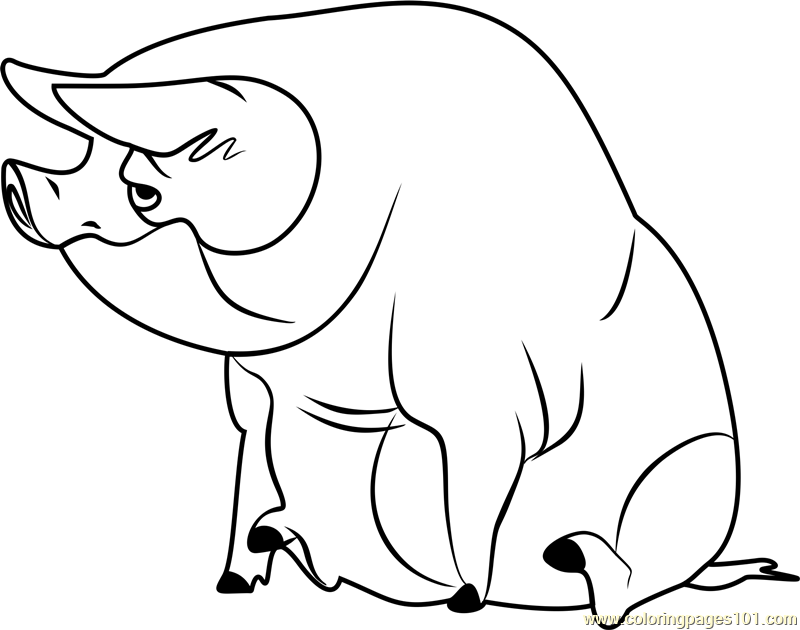 Pig Stoked Coloring Page