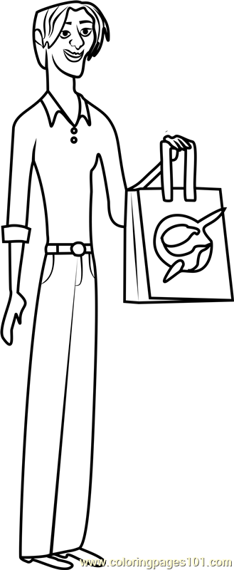 Seymour Stevens Stoked Coloring Page