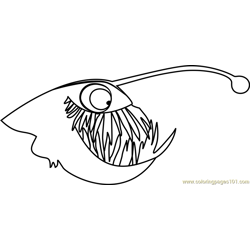 Anglerfish Stoked Free Coloring Page for Kids