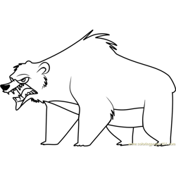Bear Stoked coloring page