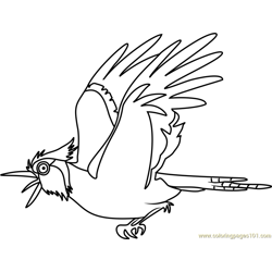 Bluejay Stoked Free Coloring Page for Kids