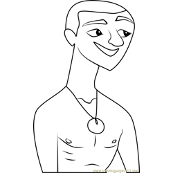 No Pants Lance Stoked coloring page