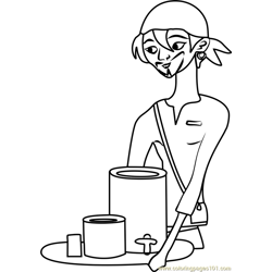 Zack Stoked coloring page