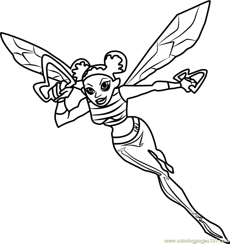 Bumblebee Coloring Page - Free Teen Titans Go! Coloring Pages ...