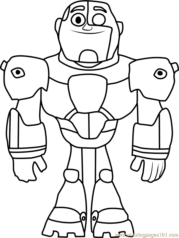 Cyborg coloring page free teen titans go coloring pages for Teen titans coloring pages