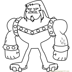 Mammoth Free Coloring Page for Kids