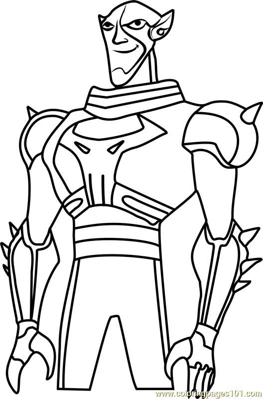 Brother Blood Coloring Page - Free Teen Titans Coloring Pages ...