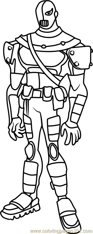 Slade Coloring Page Free Teen Titans Coloring Pages