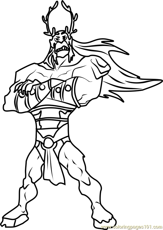 Trigon Coloring Page Free Teen Titans Coloring Pages