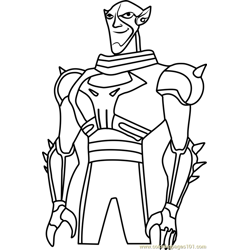 Brother Blood coloring page