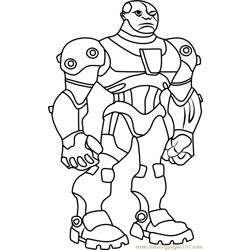 Cyborg coloring page