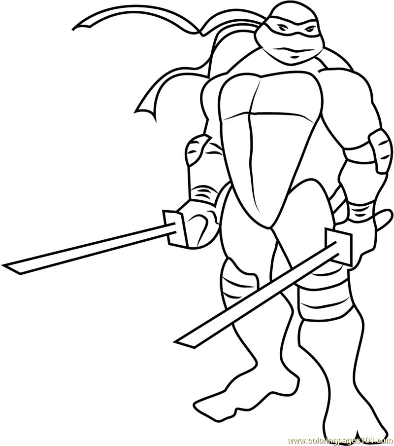 Leo Coloring Page Free Teenage Mutant Ninja Turtles