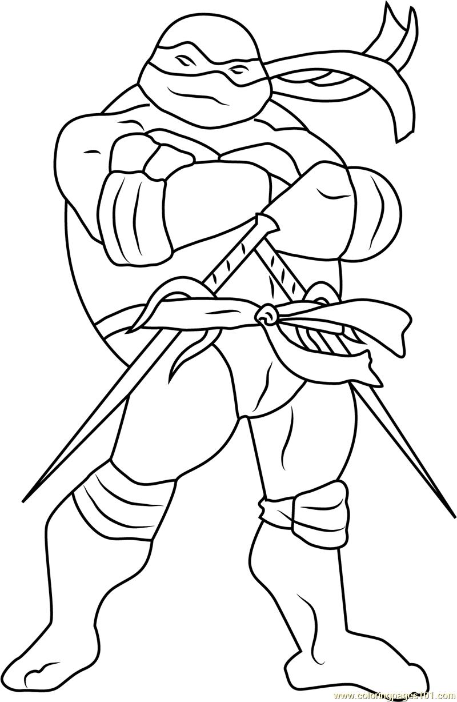 Raphael Coloring Page Free Teenage Mutant Ninja Turtles