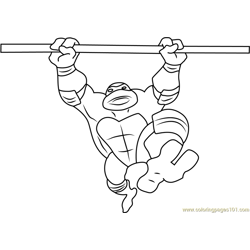 Ninja Turtle Donatello Free Coloring Page for Kids